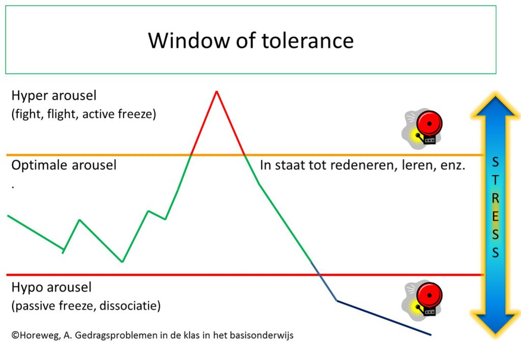 Window of Tolerance gedragsproblemen in de klas