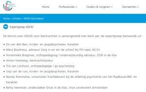 Anton Horeweg Expertgroep ADHD Kenniscentrum Kinder- en Jeugdpsychiatrie